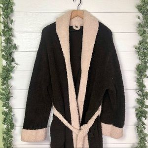 Barefoot Dreams Robe Size 2 Two Tone Brown Cream